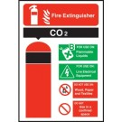 Fire Extinguisher Safety CO2 Sign S/A 150 x 200mm