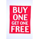 Buy 1 Get 1 Free Poster 350 x 800mm
