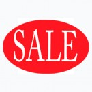 Sale Oval Sign