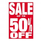 Sale Up To 50% Off Poster