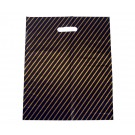 Black/Gold Stripe Carrier Bags